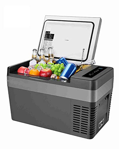 25 Litri Frigoriferi per Auto, Compressor Frigo Freezer Elettrico Portatile 12v 220v per Auto/RV Camion Barca Campeggio (da 10 ° C a -20 ° C)