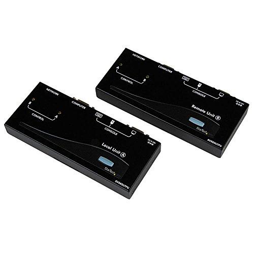 StarTech.com 500ft VGA KVM Over IP Extender - PS/2 & USB Host - KVM Console Over CAT5 Ethernet for Multiple Servers/Computers (SV565UTPU) Black