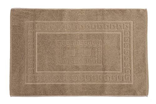 HomeLife - Tappeto Bagno Cotone Beige 60x90 cm Made in Italy | Tappetino per Il Bagno Assorbente in Spugna |Tappeto Doccia Colorato Lavabile in Lavatrice | Tappetini Scentidoccia [Beige - 60X90]