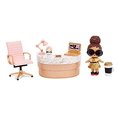 L.O.L. Surprise! Furniture School Office with Boss Queen & 10+ Surprises from MGA Entertainment