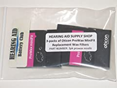 New MiniFit ProWax filters for Oticon Alta 2 and Alta Pro 2 hearing aids. 3 packs of 6 filters; 18 filters total. Change these filters regularly as they can fill up with wax and/or other non-visible debris and block the sound from your hearing aid. M...