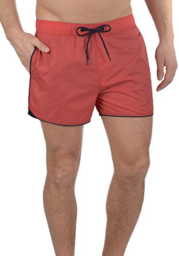 Blend Zion Herren Swim-Shorts Kurze Hose Badehose, Größe:XL, Farbe:Bright Red (73825)