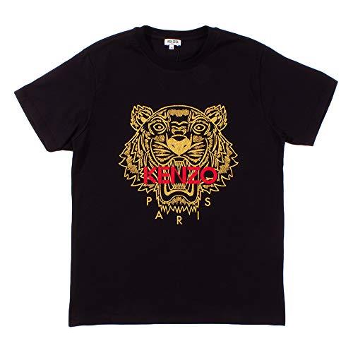 Kenzo Tiger T-Shirt Hombre (M, Negro)