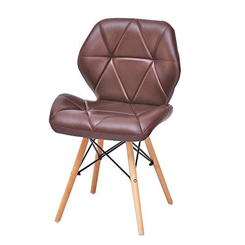 G-Y Sofa Paresseux, Chaises D'ordinateur Modernes Simples, Chaises De Bureau En Bois Solide, Dinette (Couleur : Marron)