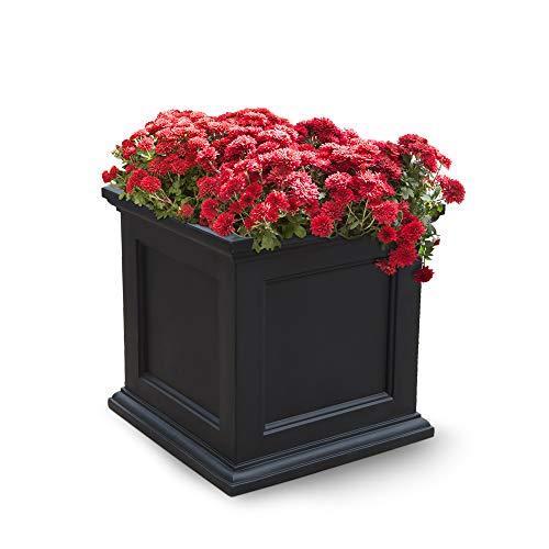Mayne Fairfield 5825B Patio Planter, 20-Inch, Black