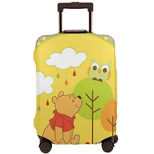 Winnie Pooh - Funda protectora para maleta, con banda elástica, antiarañazos, mangas elásticas gruesas, fáciles de limpiar, impresas, elegantes y lindas