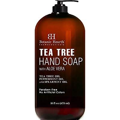 Botanic Hearth Tea Tree Liquid Hand Soap - Multi Purpose Hand Wash with Aloe Vera and Therapeutic Grade Tea Tree Oil, Pump Dispenser - 16 fl oz