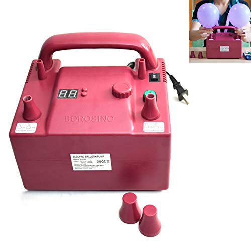 OriGlam 【2019 All New】 Portable Electric Balloon Blower Pump, Dual Nozzle Balloon Air Inflator, 110V 680W with 2 Inflation Nozzles for Decoration