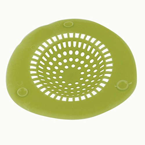 Sink Strainer ,Muxika Fashion New Silicone Bath Kitchen Waste Sink Strainer Filter Net Drain Hair Catcher (L, Green)