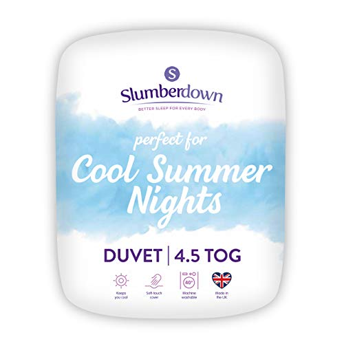 Slumberdown Cool Summer Nights Double Duvet 4.5 Tog All Year Round Duvet Double Bed