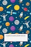 Cuaderno Cuadriculado 6mm A5: cuadricula 6x6 - 50 hojas - 100 páginas - libreta cuadriculada sin espiral - libreta infantil niño - cuaderno cuadros grandes - cuadricula 6mm - cuaderno del espacio