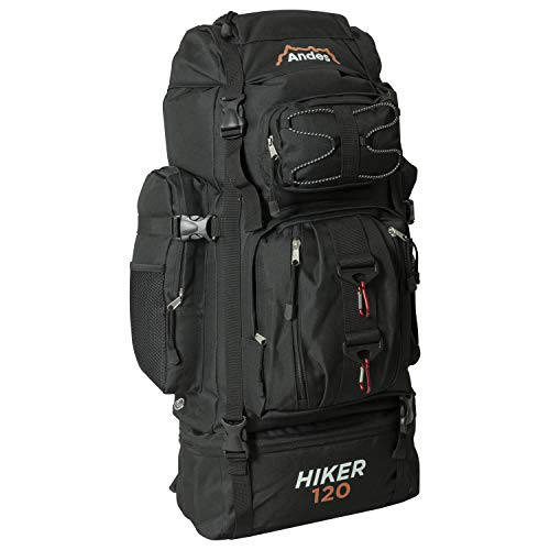 Adtrek Black 120L Hiker Backpack Extra Large Hiking/Camping Luggage Rucksack