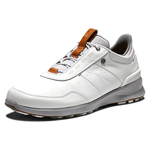 Footjoy Herren Stratos Golfschuh, Weiß, 44 EU