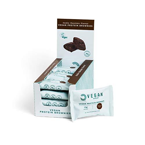 BULK POWDERS Vegan Protein Brownie, Chocolate, Pack of 12