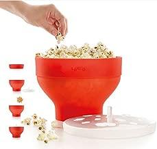 Lekue Microwave Popcorn Popper/ Popcorn Maker, Red - Set of 2