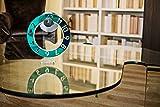 Wow Clock Summer Edition - Orologio da Tavolo novità Design Moderno Idea Regalo Originale 100% Made in Italy - Design Esclusivo Senza lancetta Ore - Wild Green specchiato - Trend 2020