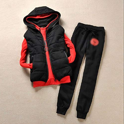 DDMYF Conjunto de 3 piezas para mujer con diseño de terciopelo, talla grande, casual, bonito traje barato al por mayor (color: B, tamaño: XXXL)