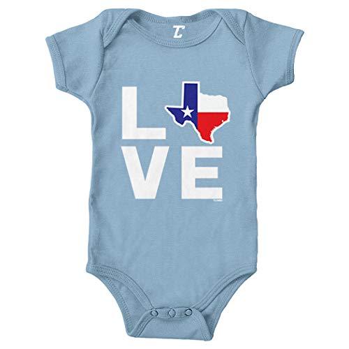 Love Texas - Texan Pride Strong Bodysuit (Light Blue, 12 Months)