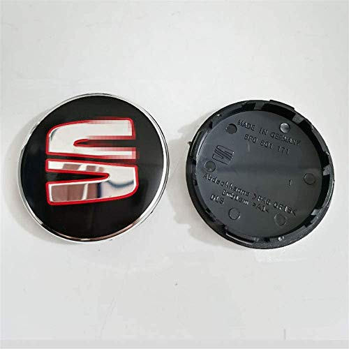 4pcs Auto Wheel Hub Center Caps Covers 56mm 63mm Para Seat Reemplazo Insignia Emblema Cubiertas Decorativas Ruedas Trim Car Styling Accessori