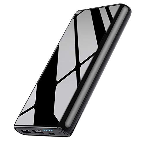 Ekrist Power Bank 25800mAh Batería Externa para MovilBidireccional Carga Rápida Cargador Portatil con Control Inteligente-IC2 USB Salidas Batería Portatil para iPhone Samsung Android Móviles Tableta