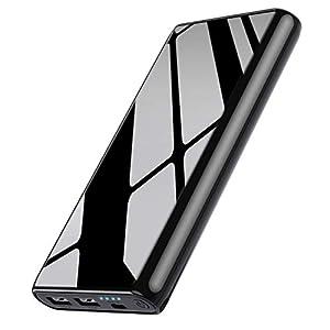Ekrist Power Bank 25800mAh Batería Externa para Movil【Bidireccional Carga Rápida Cargador Portatil con Control Inteligente-IC】2 USB Salidas Batería Portatil para iPhone Samsung Android Móviles Tableta