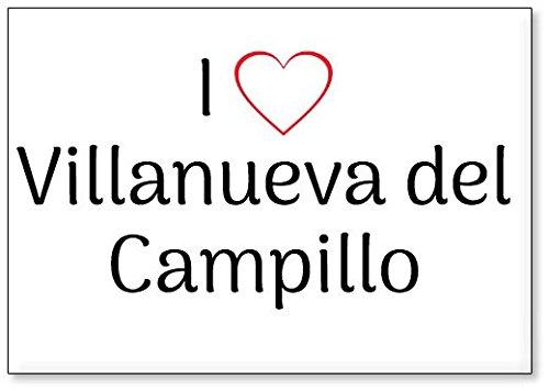 Mundus Souvenirs - Amo Villanueva del Campillo, Imán para Nevera (diseño 2)