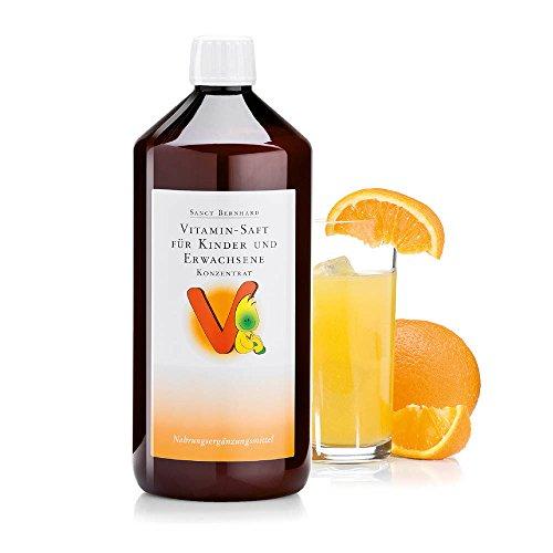Sanct Bernhard Vitamin-Saft für Kinder und Erwachsene mit Vitamin C, B, Folsäure, Biotin, Niacin, Pantothensäure - Konzentrat
