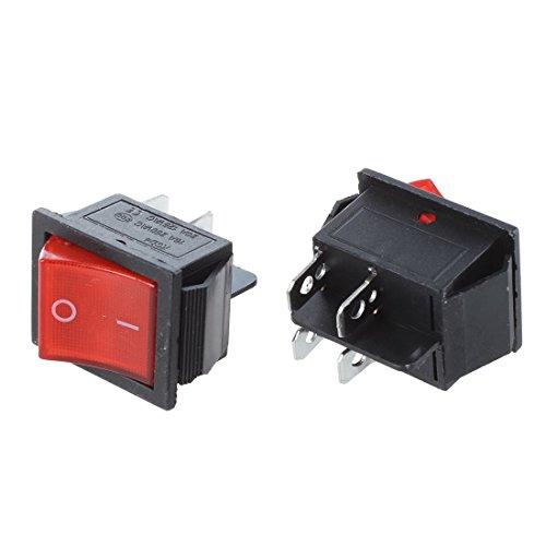 Fransande Fransande(R) - 2 interruptores para barco KCD4 DPST ON-OFF de 4 pines (15 A/20 A, 250 V/125 V)