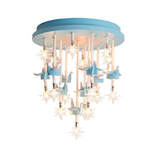 BDwantan Lámpara de techo para habitación infantil, diseño de estrellas de origami creativa, minimalista, 40 x 40 cm (color: azul)
