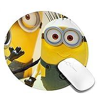 オプトエレクトロニクステクノロジー® 怪盗グルー ミニオンズ マウスパッド マウスマット 丸型 円形 20*20*0.3cm ミニ マルチカラー オフィス用 ノンスリップ 滑り止め 耐久性が良い 防水 汚れにくい 掃除しやすい ゲーミングマウスパッド ノートパソコン コンピューター キーボード パターンマウスパッド デスクトップマウスパッド