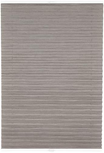 ondeco Estor plisado a medida Fair Reflex para todas las ventanas interiores, montaje en barra de cristal, protección solar y opaco, color gris, ancho 101-110 cm, altura 40-100 cm