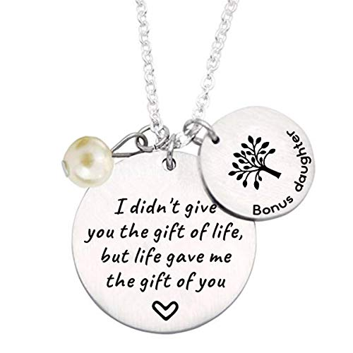 Stepdaughter Gift - I Didn't Give You the Gift of Life But Life Gave Me the...
