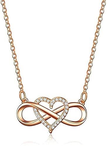 YZXYZH Collar con Colgante De Circonita De Corazón Infinito, Accesorios De Ropa De Fiesta De Ocio, Joyería para Mujeres, Mujeres, Hombres, Regalo Collar