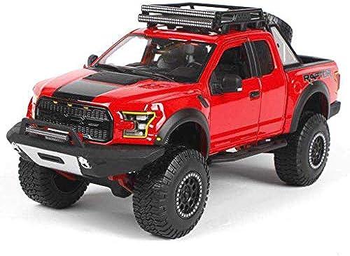 Maisto 2017 ford f-150 raptor pickup modell simulation legierung sportwagen modell kinder spielzeugauto legierung auto modell sammlung 1 24 Simulation Miniaturmodelle Fahrzeuge (Farbe   rot)