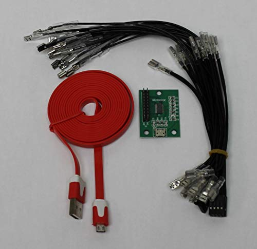 RetroArcade.us Arcade Game Controller USB Interface PCB Kit for Pc (Mame) / Ps3 to Mame - 1 Player Only Plus