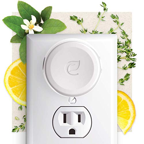 Enviroscent Plug Hub Plug-in Warmer Air Freshener Starter Kit, Includes Refillable Plug Hub and 2 Liquidless Scent Pods (Lemon Leaf + Thyme)