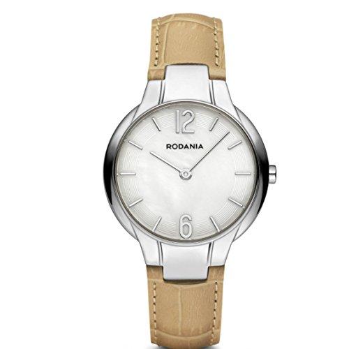 Rodania 26095-22 - Reloj para Mujeres, Correa de Cuero Color Beige