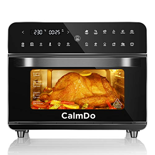 CalmDo Friteuse sans Huile, 25L Mini four électrique avec 12 Programmes, 1800W Four à Air chaud...