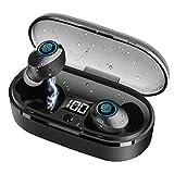 Cuffie Bluetooth,Ynigimy Auricolari Bluetooth Senza Fili Impermeabile IPX6 Auricolari Wireless 5.0 Sportivi, Auricolari Stereo TWS con Bassi Profondi,con Custodia da Ricarica Microfono Cuffie