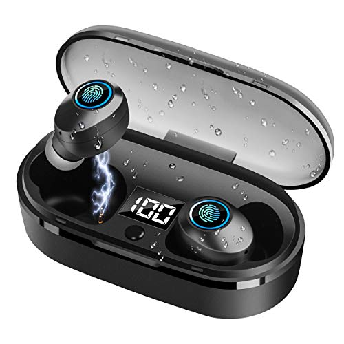 Ynigimy Bluetooth Kopfhörer In Ear, Kabellose Kopfhörer mit intensivem Bass,TWS Bluetooth 5.0 Headset True Wireless Earbuds mit Mikrofon und Tragbare Ladehülle