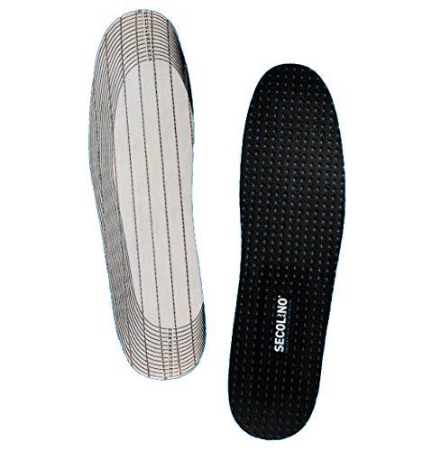 SECOLINO® Einlegesohlen gegen Schweißfüße zum Kleben. Dünne Zuschneidbare Schuheinlagen für Damen und Herren - Multifit