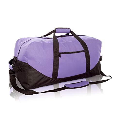 Dalix Sporttasche, groß, 63,5 cm, Schwarz / Grau / Marineblau / Rot / Camouflage, Damen, violett, One_Size