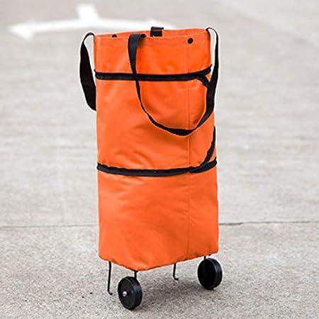 Elibeauty Sac /à roulettes pliable pliable avec roulettes Panier de courses r/éutilisable 2-1 panier de courses pour la maison Supermarch/é Bleu
