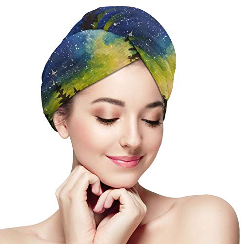 Bettiboy Paint Brush Clipart Paint Night Oil Painting Microfiber Hair Towel Wrap for Women Super Absorbent Quick Dry Hair Turban for Drying Curly Spa