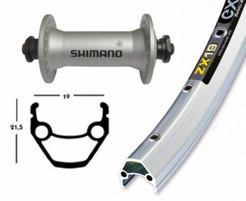 Niro Speichen Silber Fahrrad Vorderrad 28x1.75 Alu Nabe Starr 36L Exal ZX 19