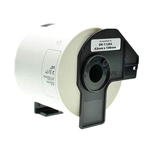 Logic-Seek Versand-Etiketten kompatibel für Brother DK-11202-300 Stück - 62mm x 100mm P-Touch QL-1050 1060N 500 550 560 570 580 700 500 A BS BW 560 VP YX 580N 650TD 710W 720NW - Weiss