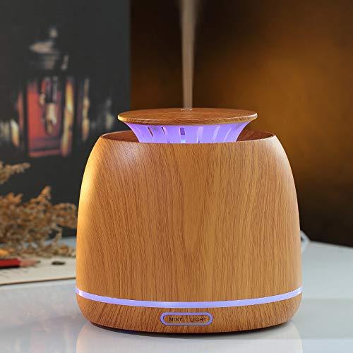 SGSD Aromatherapie Luftbefeuchter Bunte Aromatherapie Maschine Desktop Holzmaserung Luftbefeuchter Silent Ultraschall