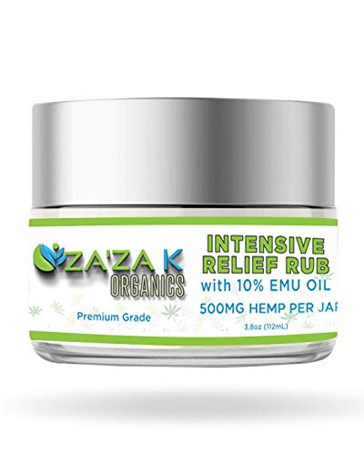 Hemp Cream 500 MG Max Strength – ZAZA K Organics 100% Natural Hemp Oil Extract for Knee, Joints, Back Pain, Muscles, Arthritis, Inflammation - Made in USA - Massage Hemp Lotion with Arnica Cream