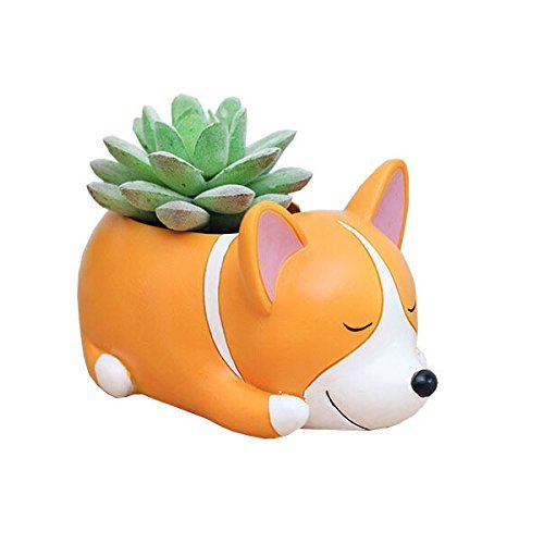 Youfui Corgi Gift Planter Flowerpot Resin Succulent Planter Desk Mini...