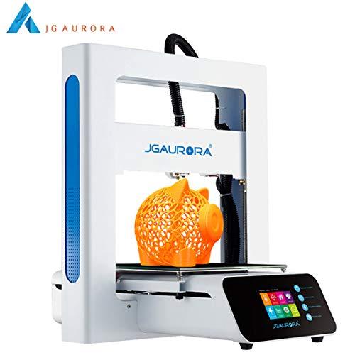 Mini Kit stampante 3D con letto riscaldato per principianti, costruzione telaio in metallo, funzione di ripresa, touchscreen, per uso domestico e scolastico, formato di stampa 205 * 205 * 205mm